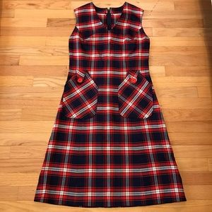 Dresses & Skirts - Vintage dress in navy and red plaid